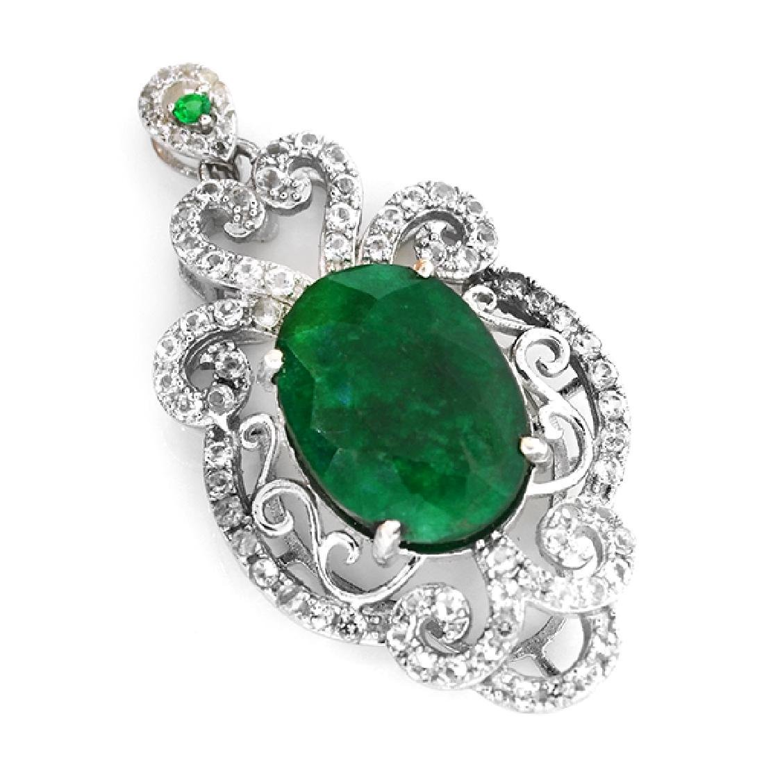 APP: 2.7k 7.83CT Green Beryl Emerald And Topaz Platinum