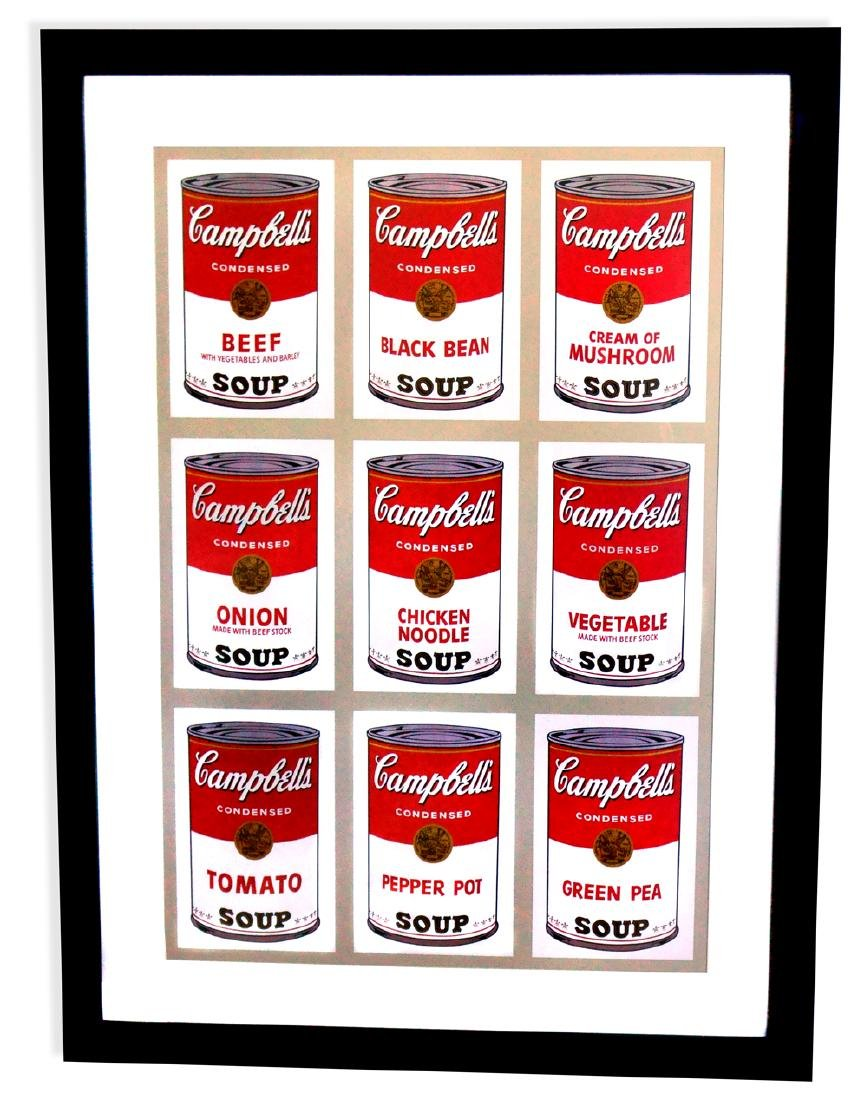 Andy Warhol (After) Museum Framed Print Campbell's