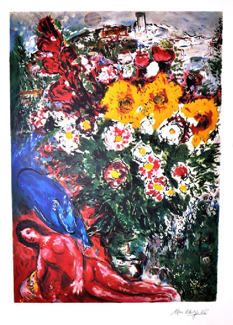 MARC CHAGALL (After) Les Soucis Print, 447 of 500