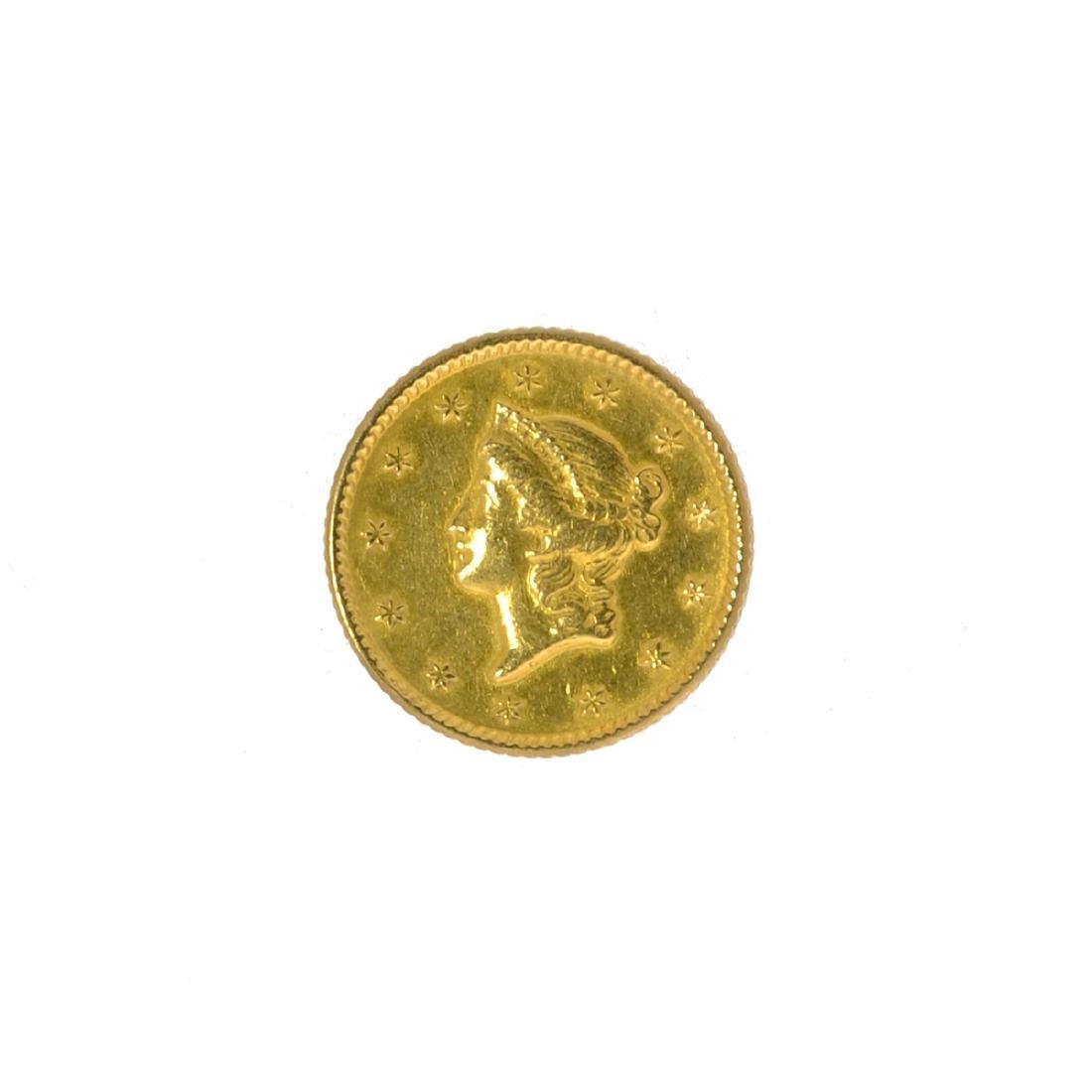 *1851 $1 U.S. Liberty Head Gold Coin (JG N)