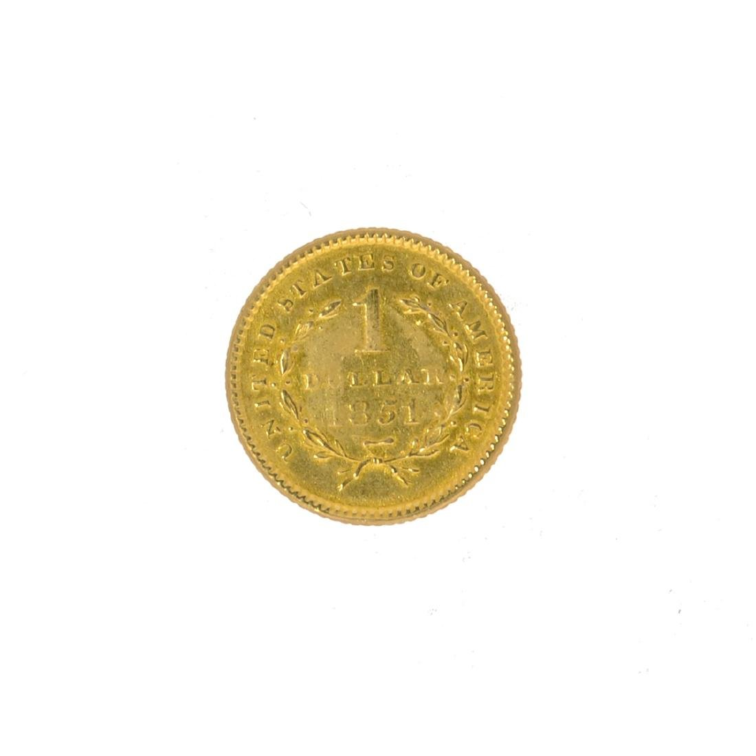 *1851 $1 U.S. Liberty Head Gold Coin (JG N) - 2