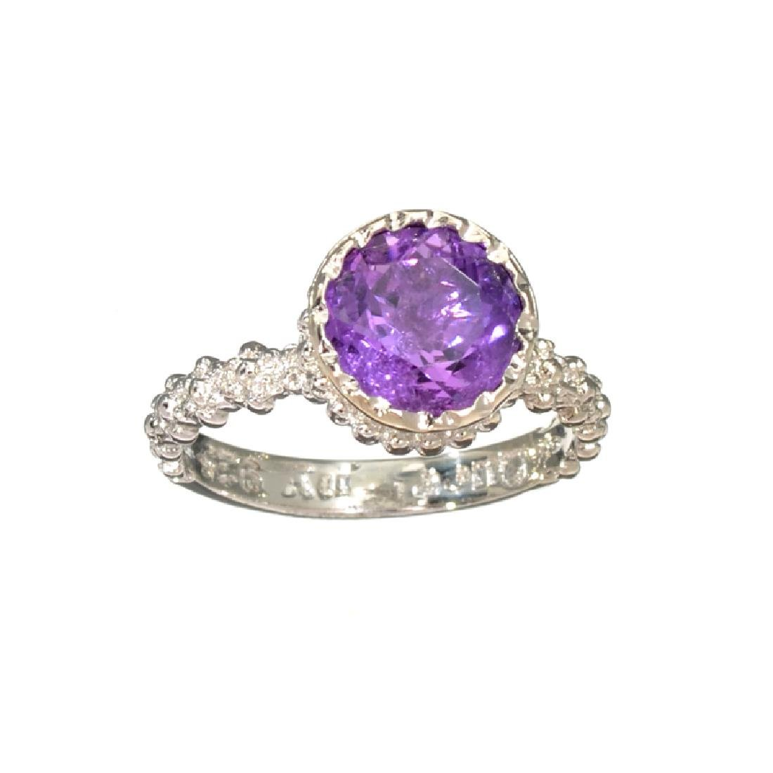 APP: 0.4k Fine Jewelry 3.02CT Round Cut Amethyst And