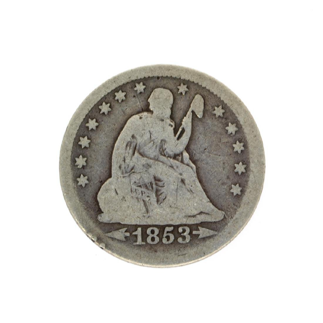 Rare 1853 Arrows At Date Liberty Seated Quarter Dollar