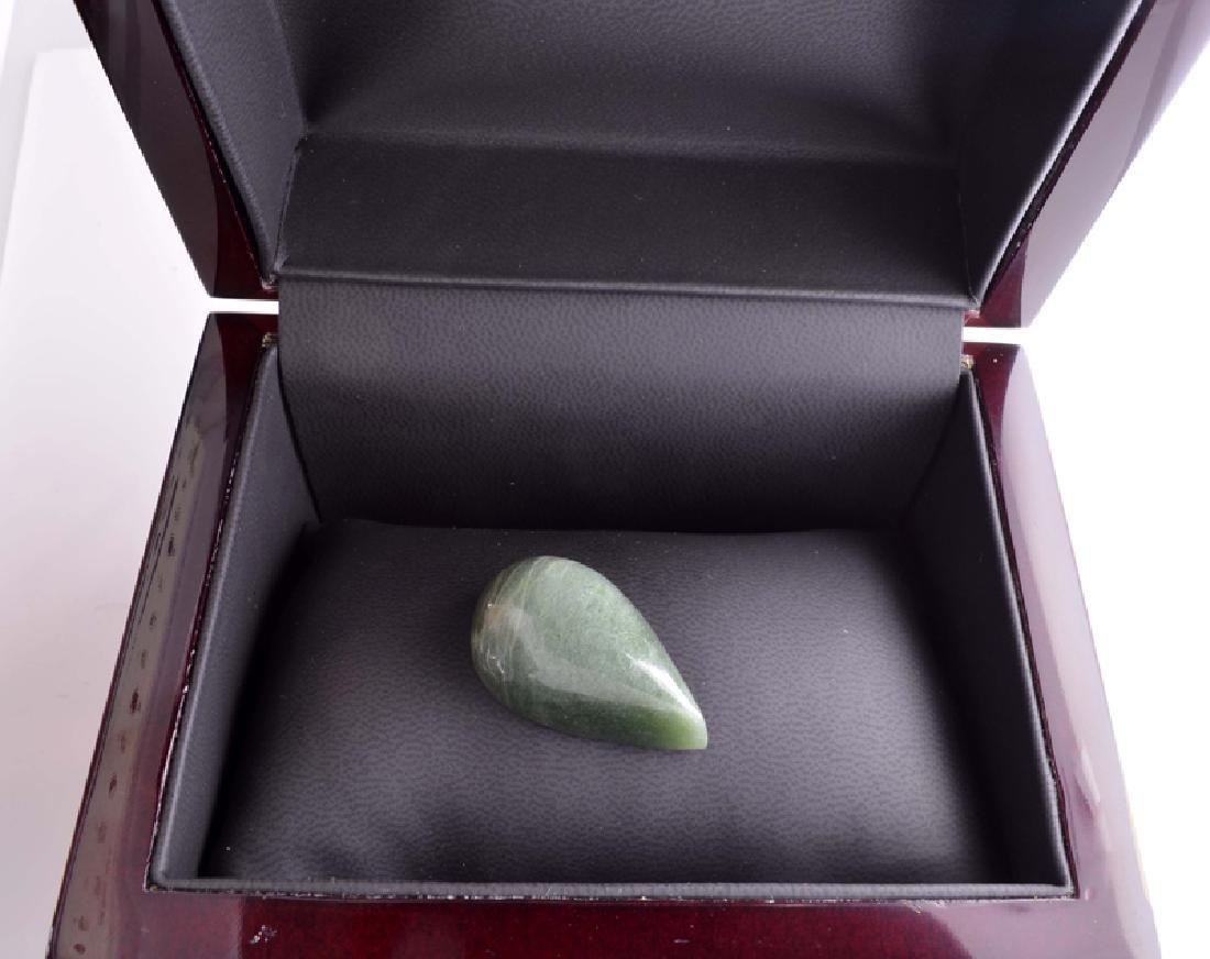 APP: 2k 79.00CT Pear Cut Cabochon Green Jade Gemstone