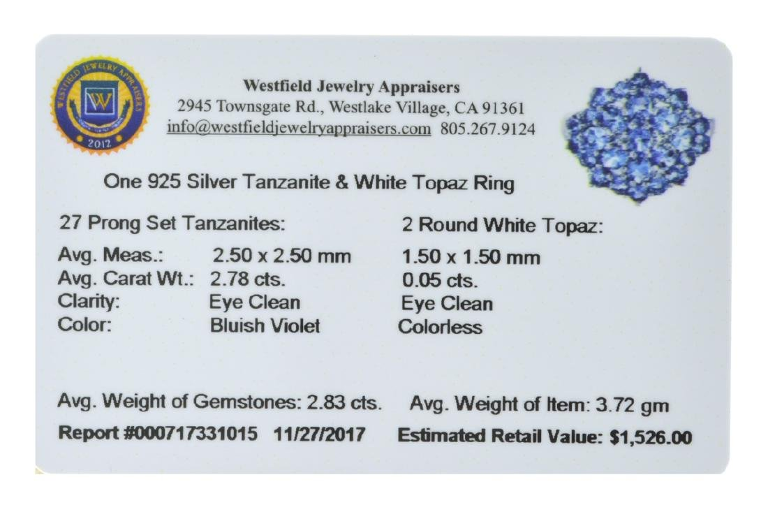 APP: 1.5k 2.78CT  27 Prong Set Tanzanite And 2 Round - 2
