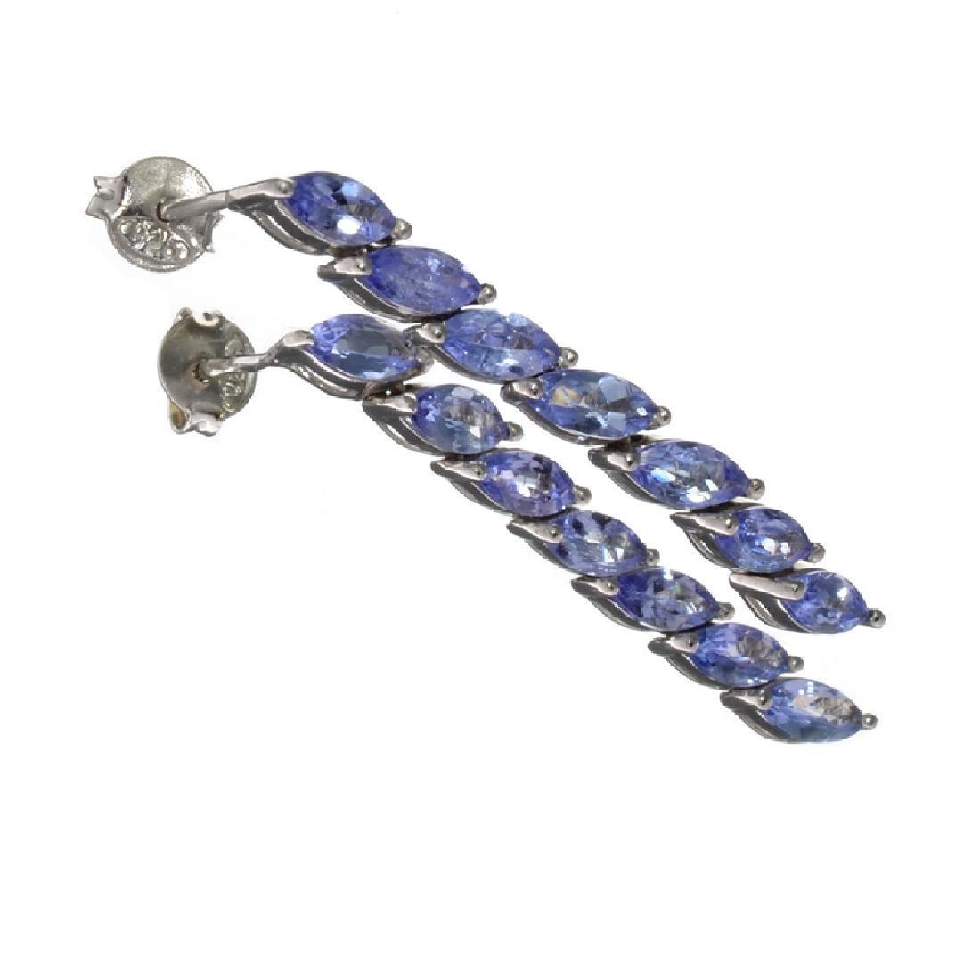 Fine Jewelry 3.62CT Marquise Cut Violet Blue Tanzanite