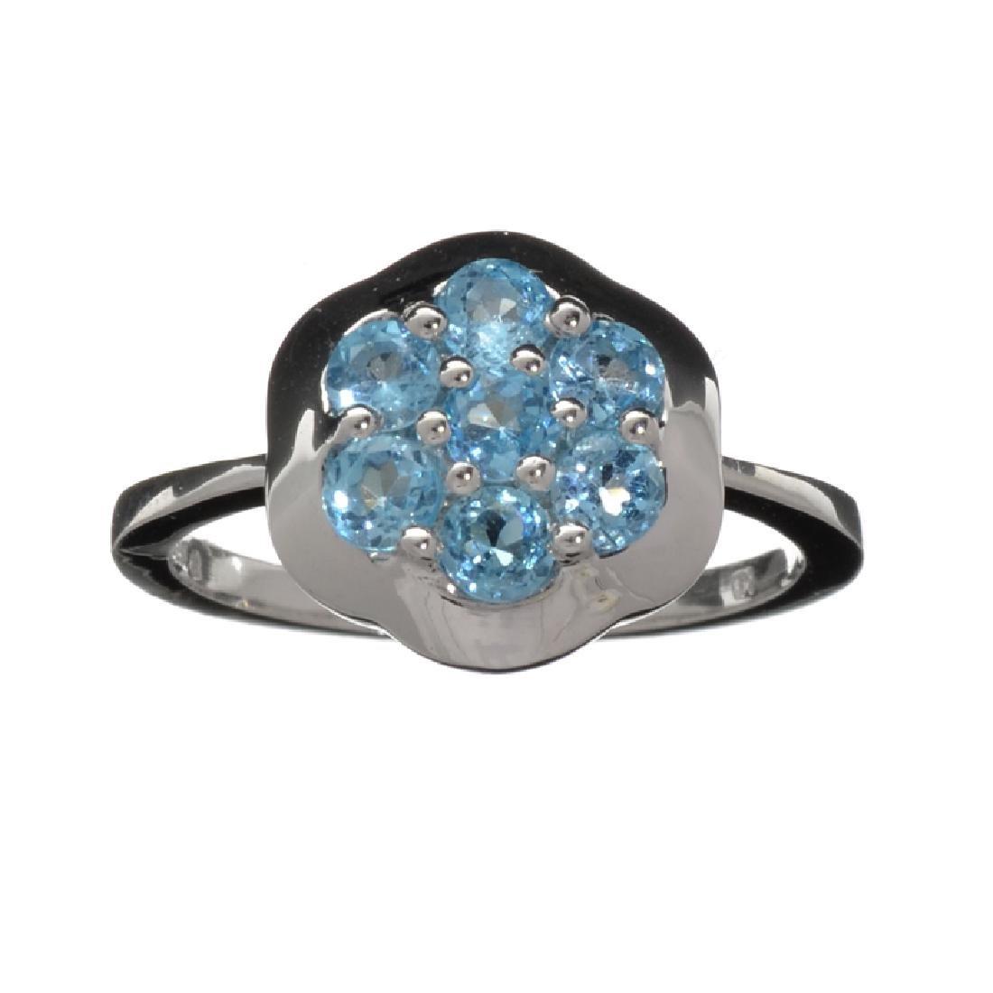 APP: 0.7k Fine Jewelry 1.00CT Round Cut Blue Topaz And