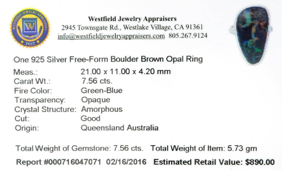 APP: 0.9k Fine Jewelry 7.56CT Free Form Green-Blue - 2