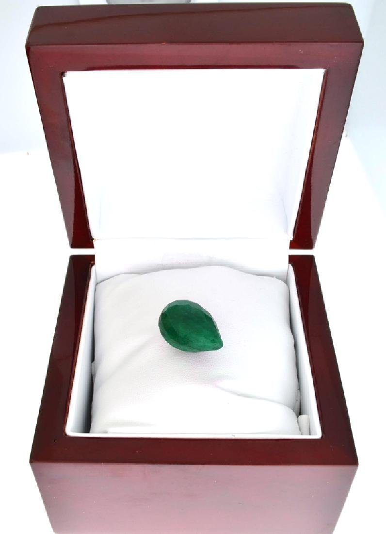 APP: 1k 42.75CT Tear Drop Cut Green Beryl Emerald