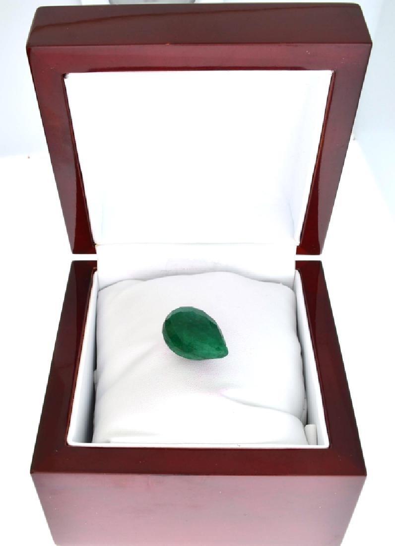 APP: 1k 42.75CT Tear Drop Cut Green Beryl Emerald