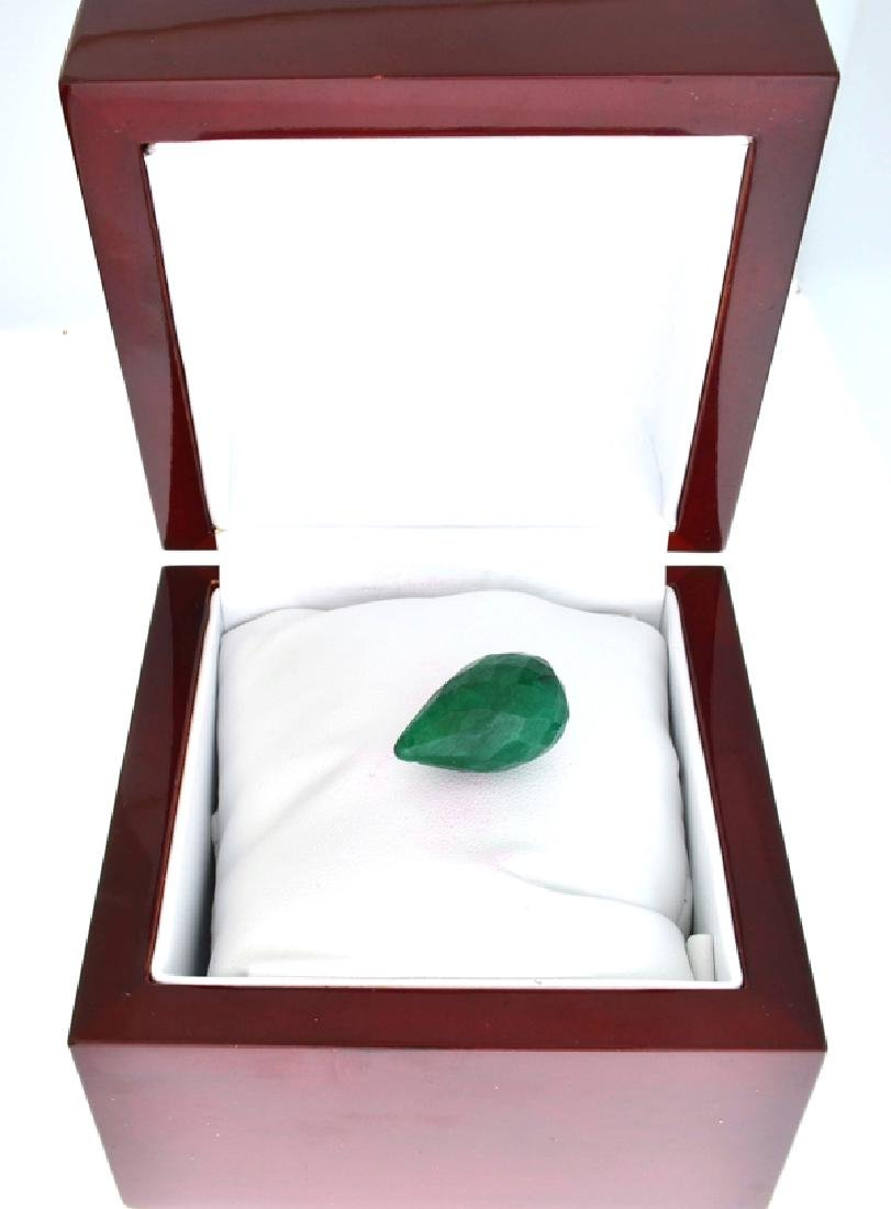 APP: 1k 42.75CT Tear Drop Cut Green Beryl Emerald - 2