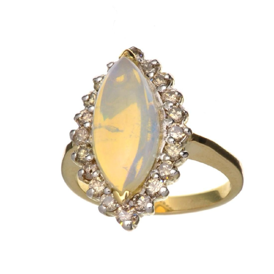 APP: 2.8k 14 kt. Yellow/White Gold, 1.79CT Opal  And