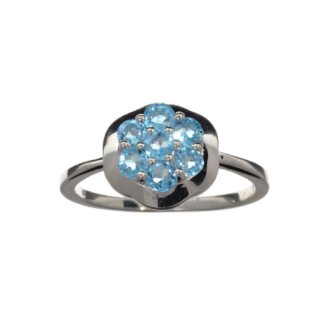 APP: 0.5k Fine Jewelry 0.30CT Round Cut Blue Topaz And