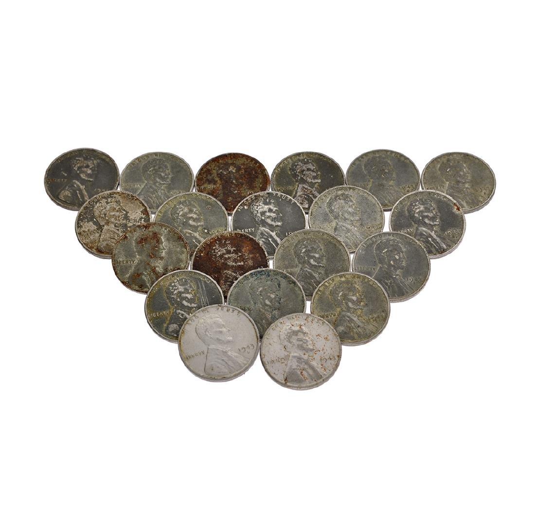 20 1943 Steel Pennies Coin