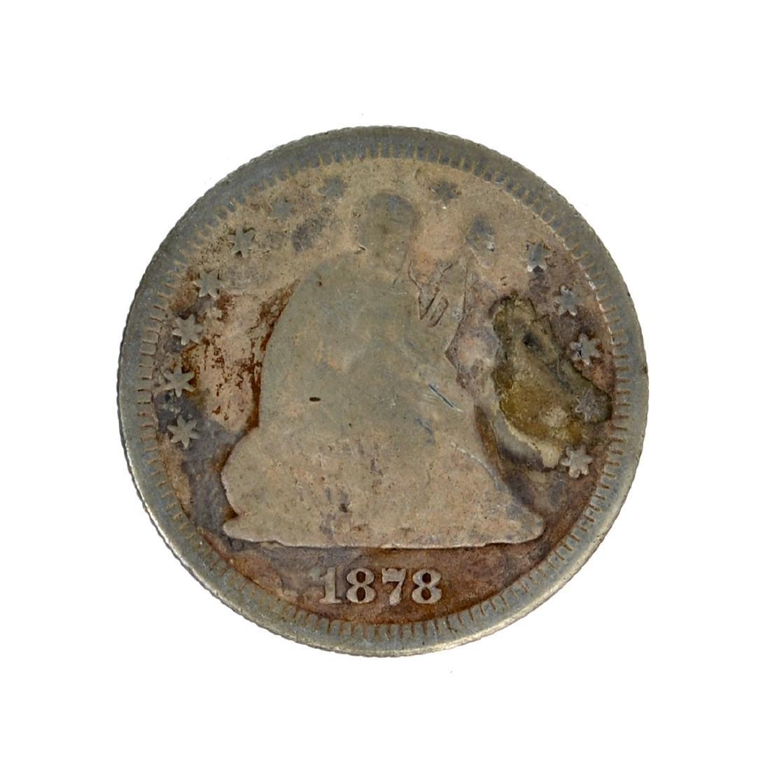 1878 Liberty Seated Quarter Dollar Coin