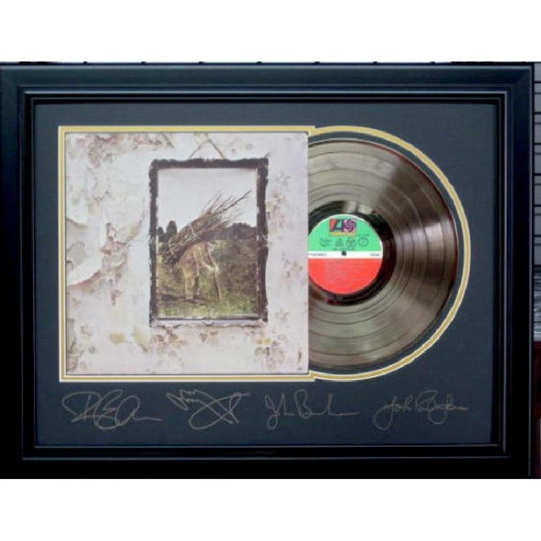 Led Zeppelin Gold Album Engraved Signatures