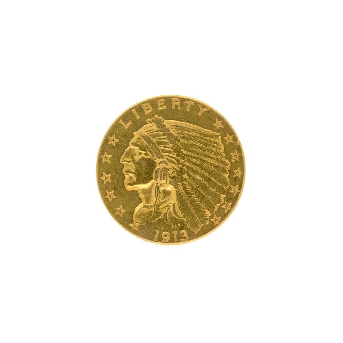 1913 $2.50 U.S. Indian Head Gold Coin