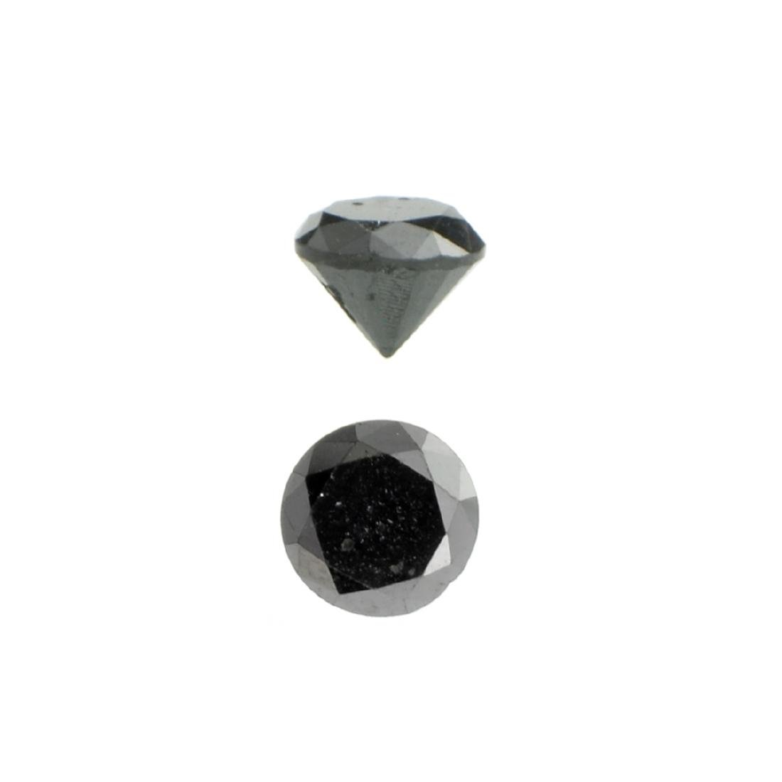 APP: 0.7k 0.87CT Round Cut Black Diamond Gemstone