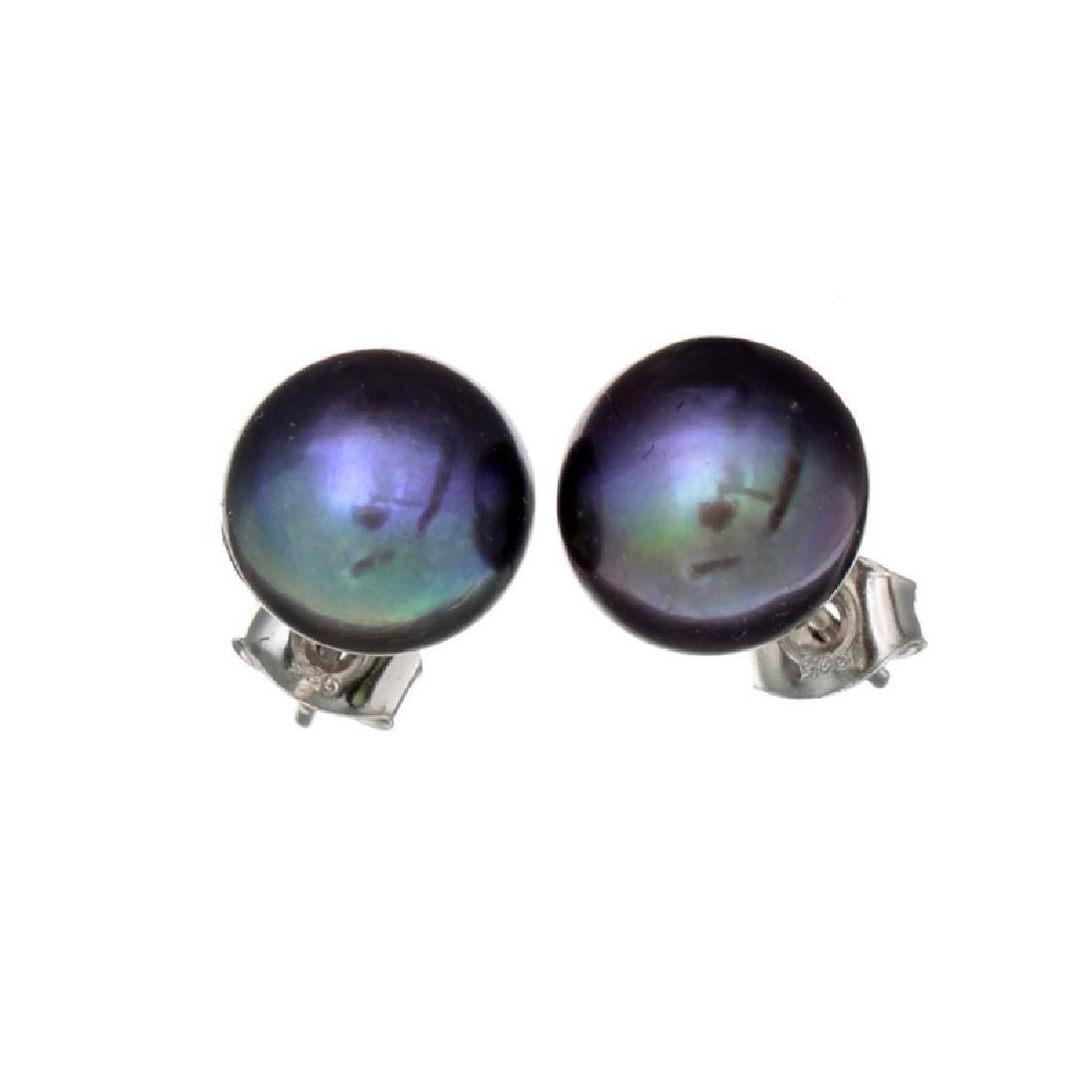 APP: 1.1k Peacock Cultured Freshwater Pearl Earrings