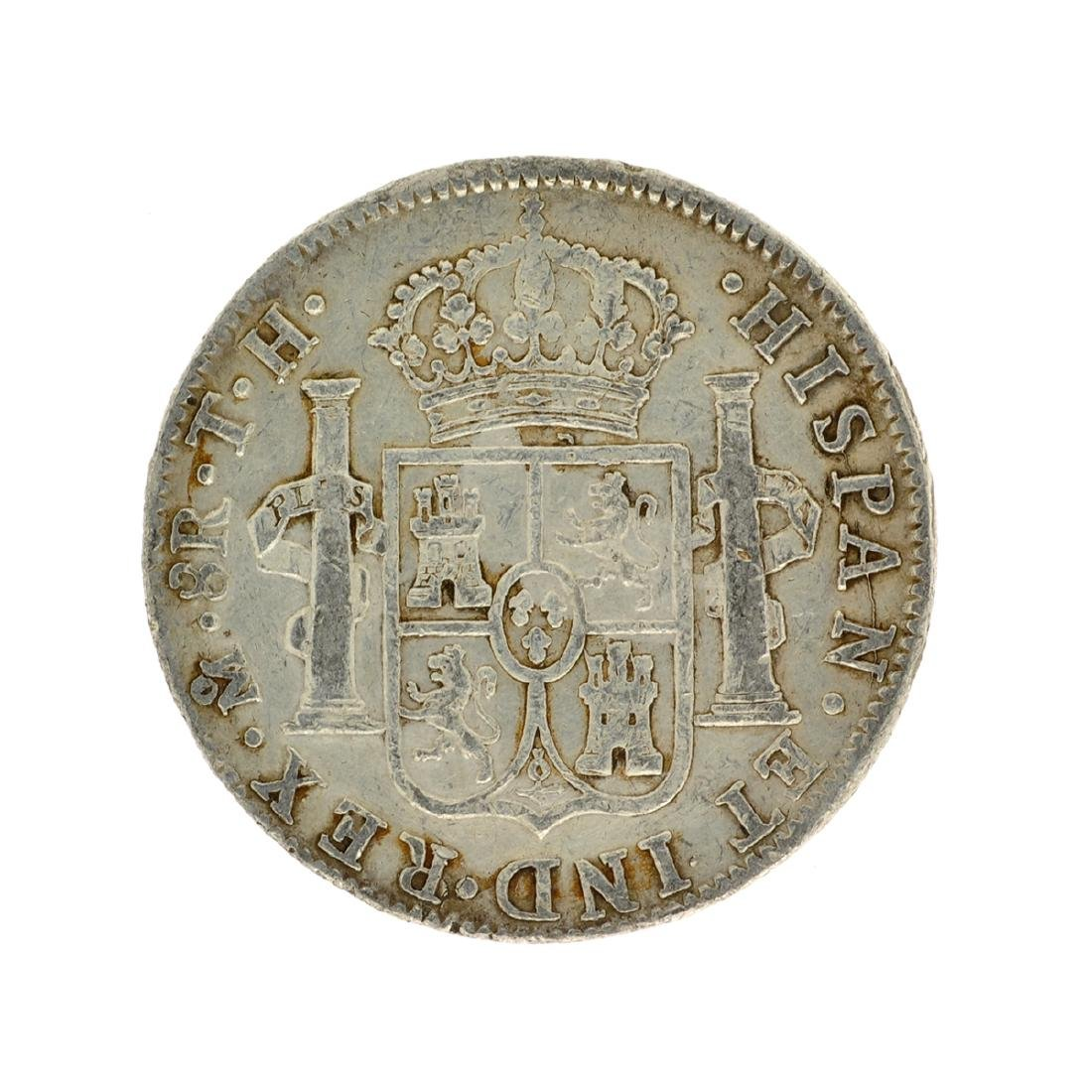 1808 Extremely Rare Eight Reales American First Silver - 2