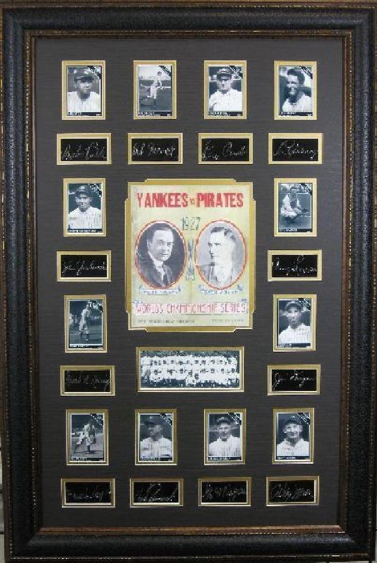 1927 Yankees - Plate Signatures
