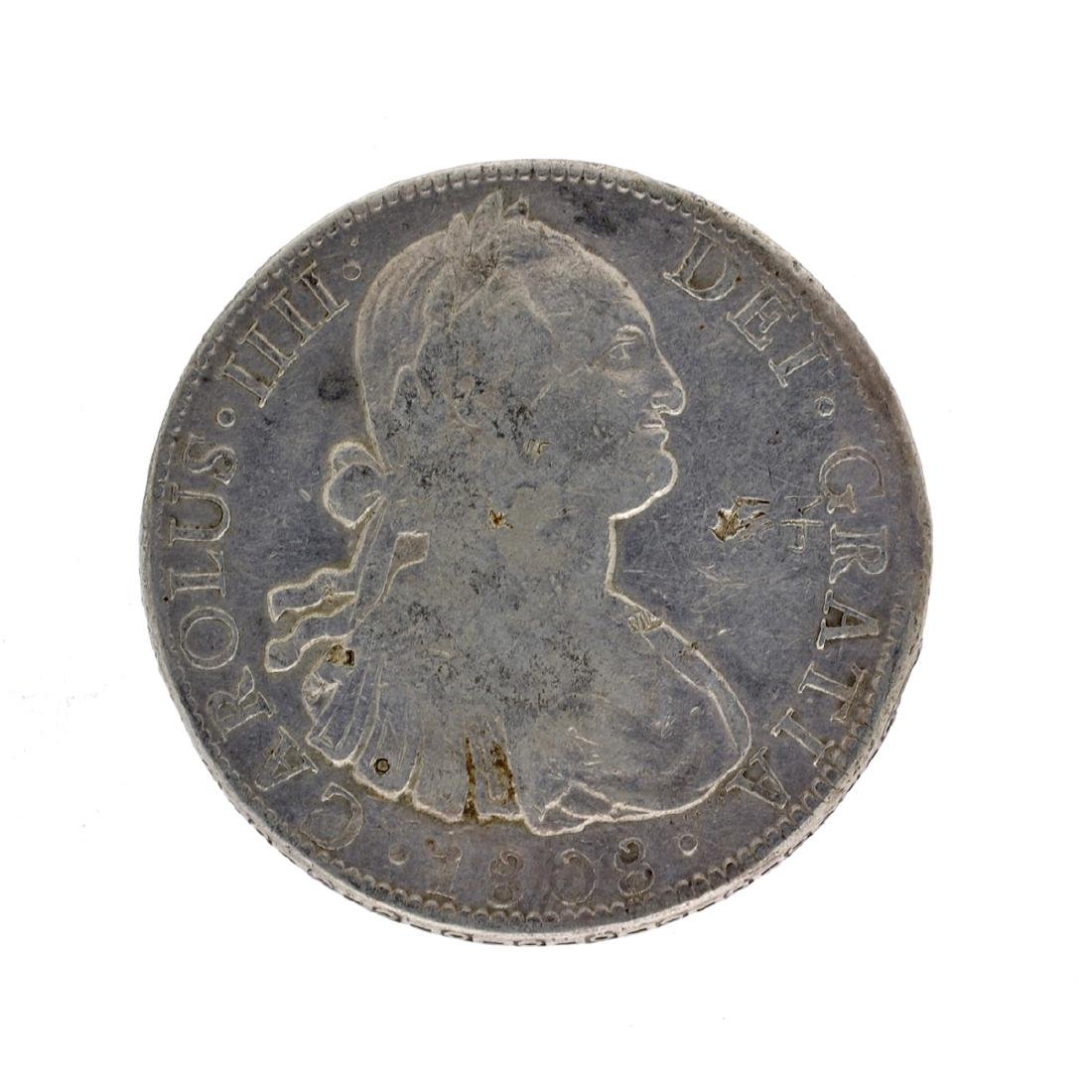 1808 Extremely Rare Eight Reales American First Silver