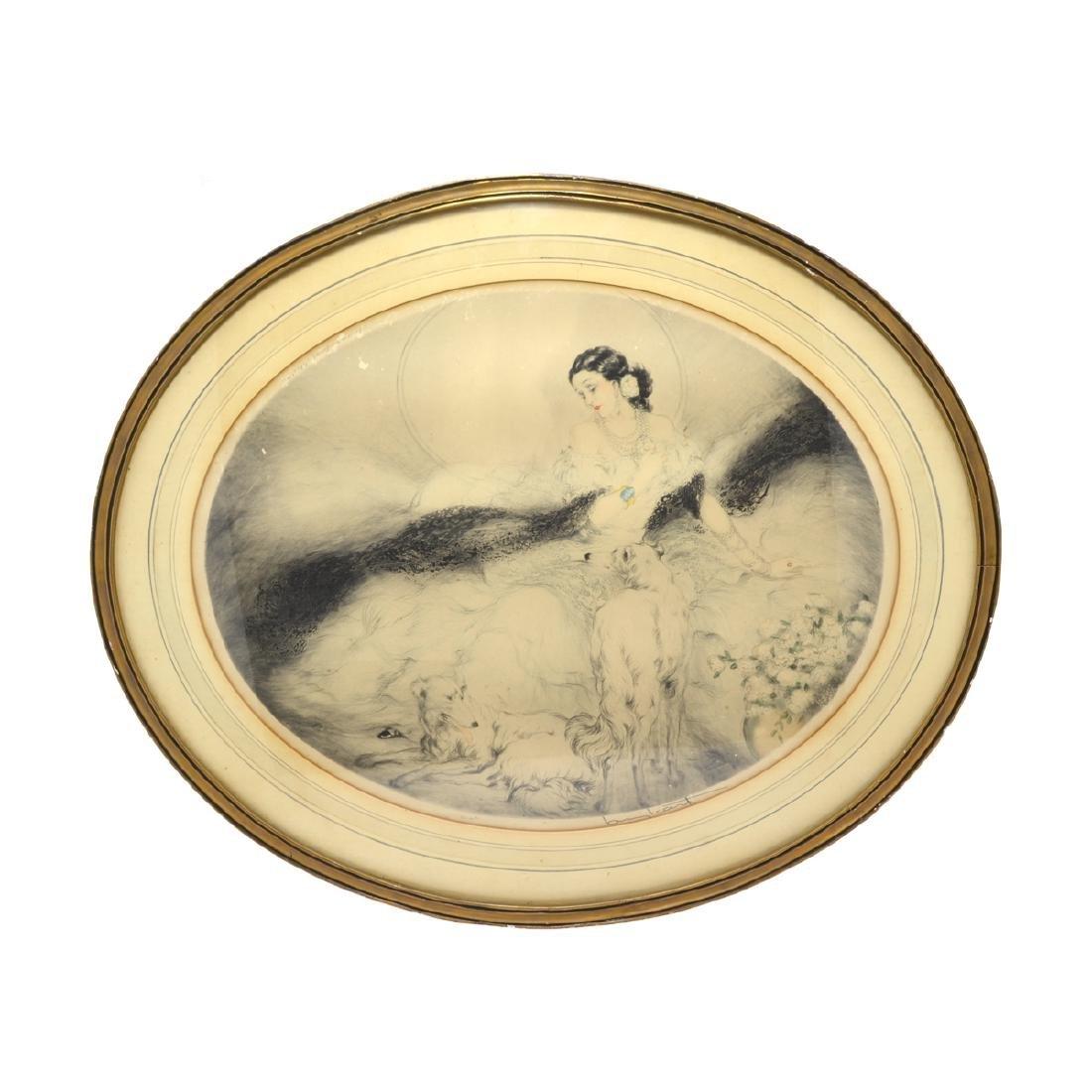 1928 Rare Louis Icart ''Rose Point Etching'' Original