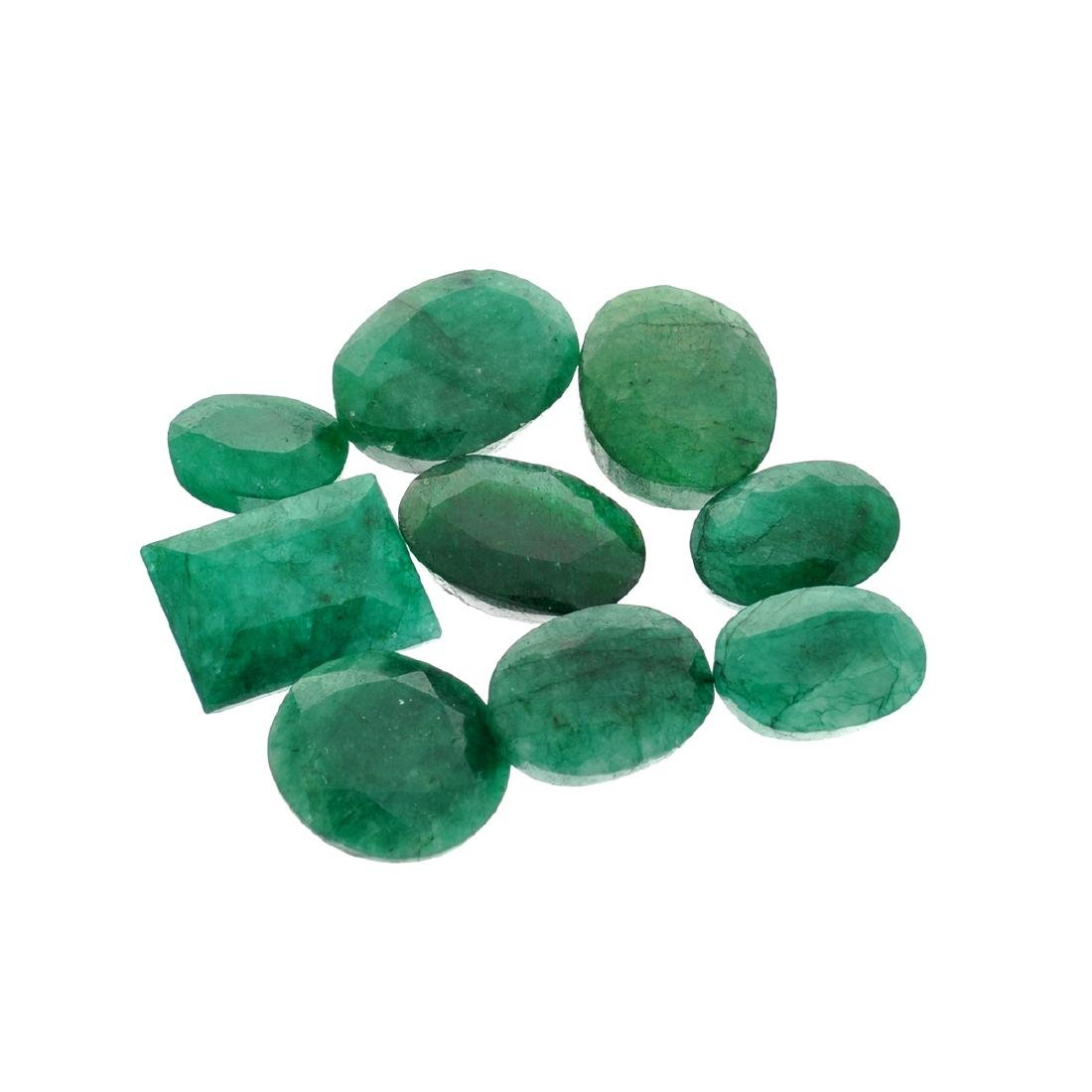 APP: 7.6k 101.58CT Various Shapes Green Emeral Parcel -