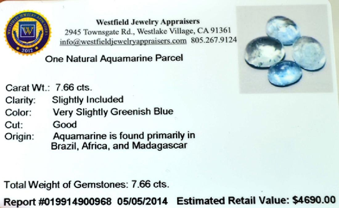 APP: 4.7k 7.66CT Natural Aquamarine Parcel - 2