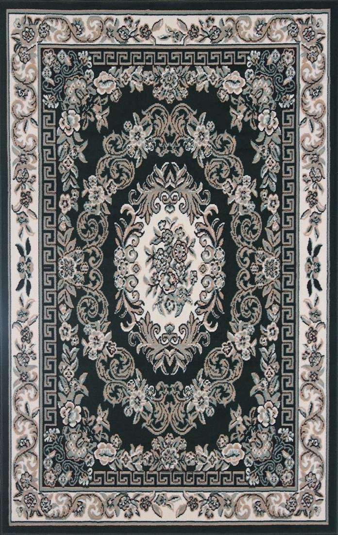 Gorgeous 4x6 Emirates (1522) Emerald Green Rug High