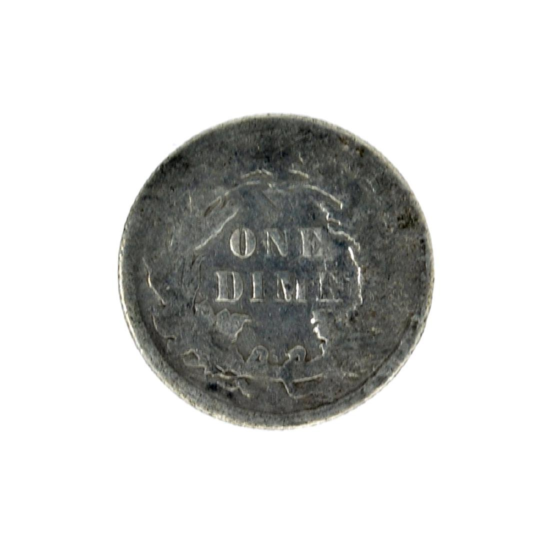 1891-O Liberty Seated Dime Coin - 2