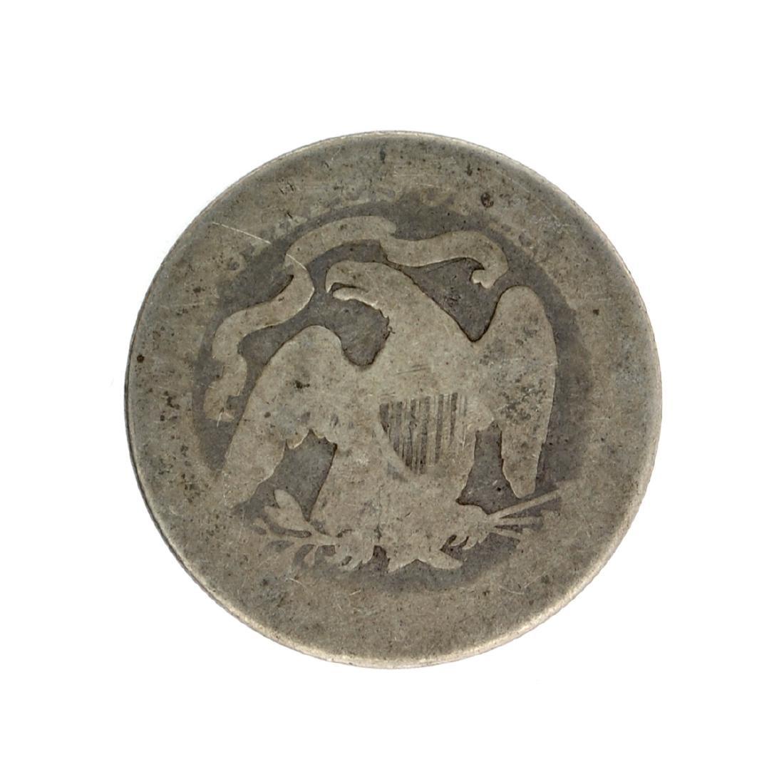 1877 Liberty Seated Quarter Dollar Coin - 2