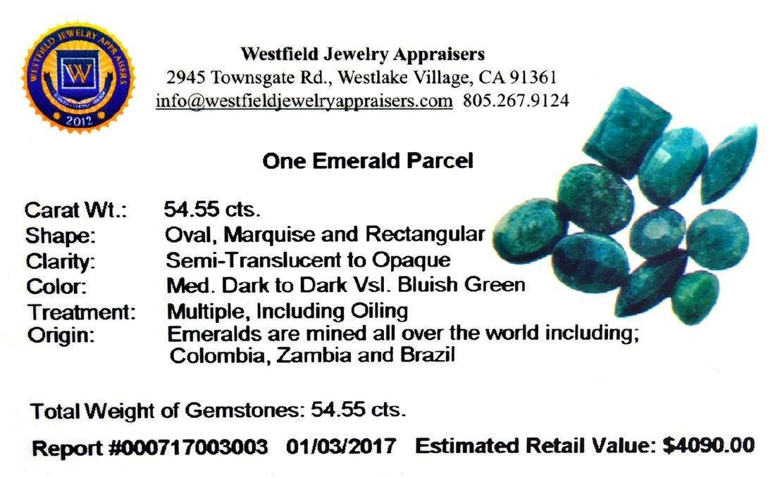 APP: 4.1k 54.56CT Green Emerald Parcel - 2