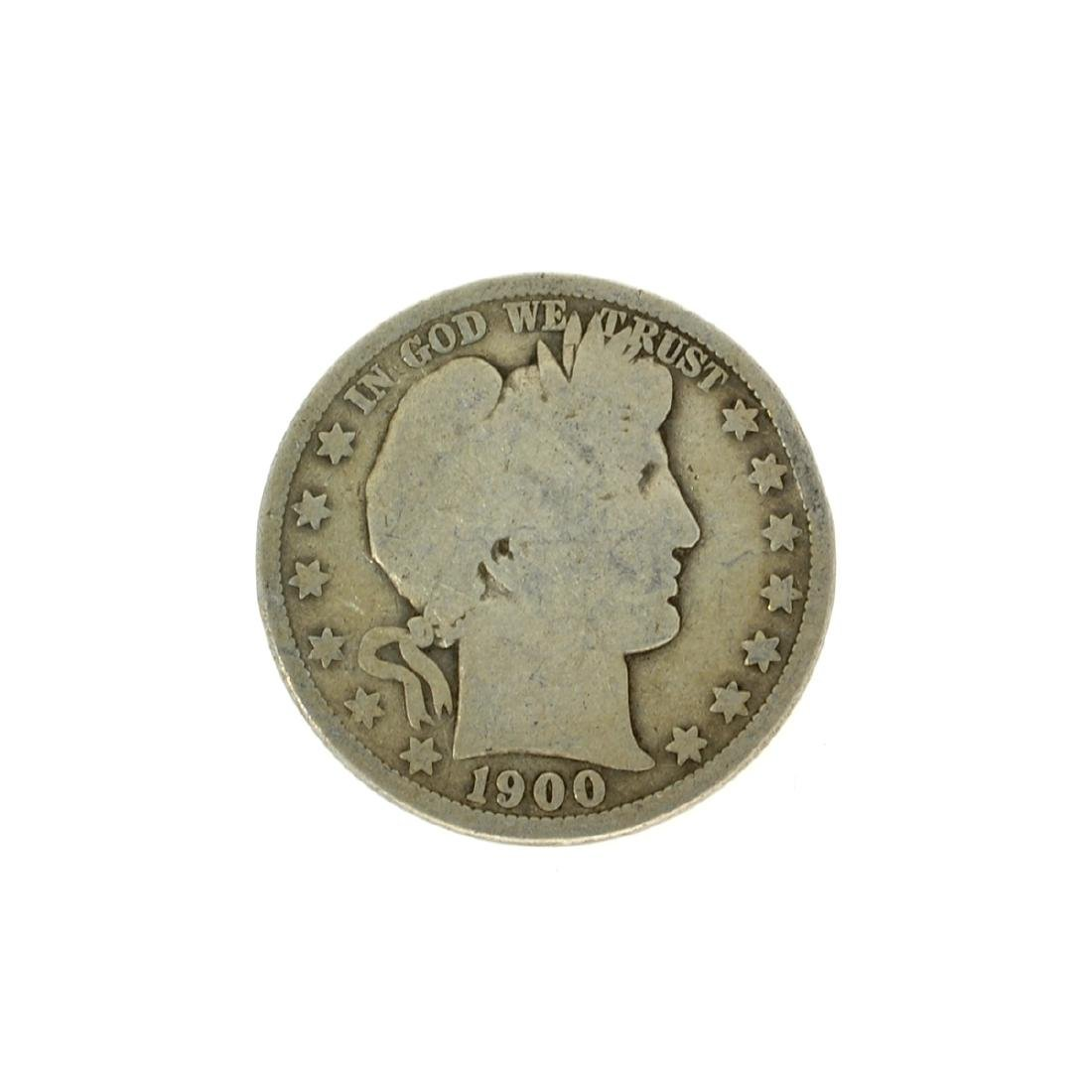1900 Barber Half Dollar Coin