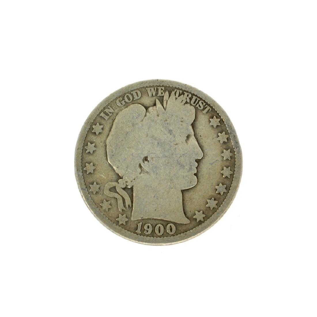 1900 Barber Half Dollar Coin