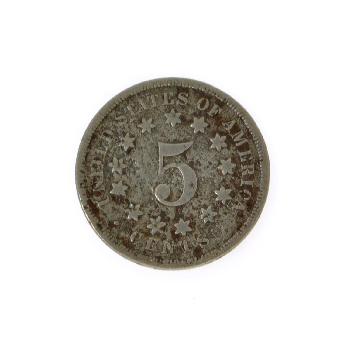 1868 Shield Nickel Coin - 2