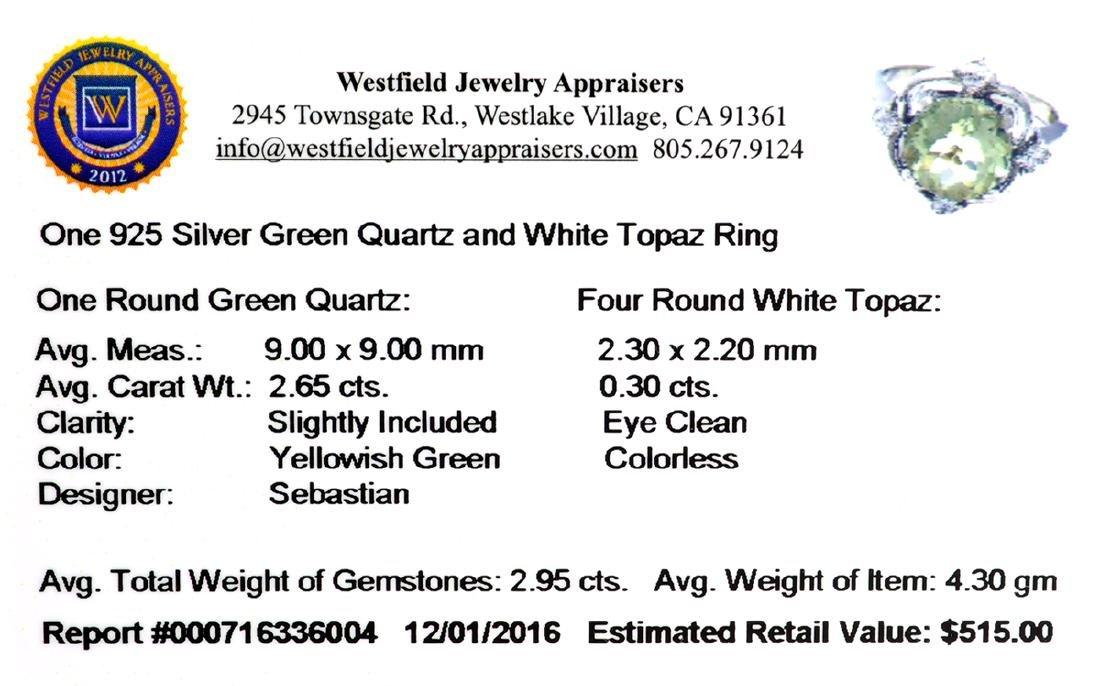 Fine Jewelry Designer Sebastian 2.95CT Round Cut Green - 2
