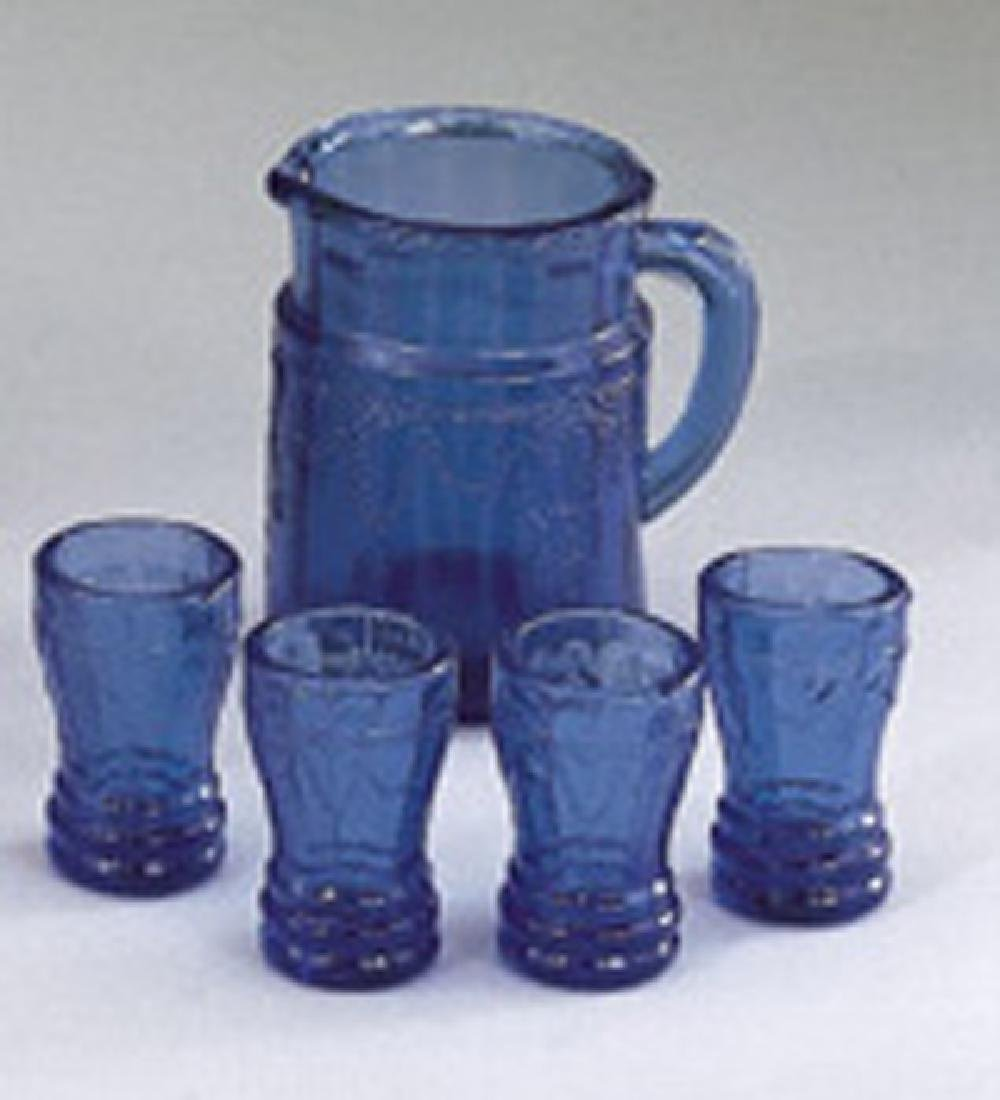 Blue Miniature Water Set of 5