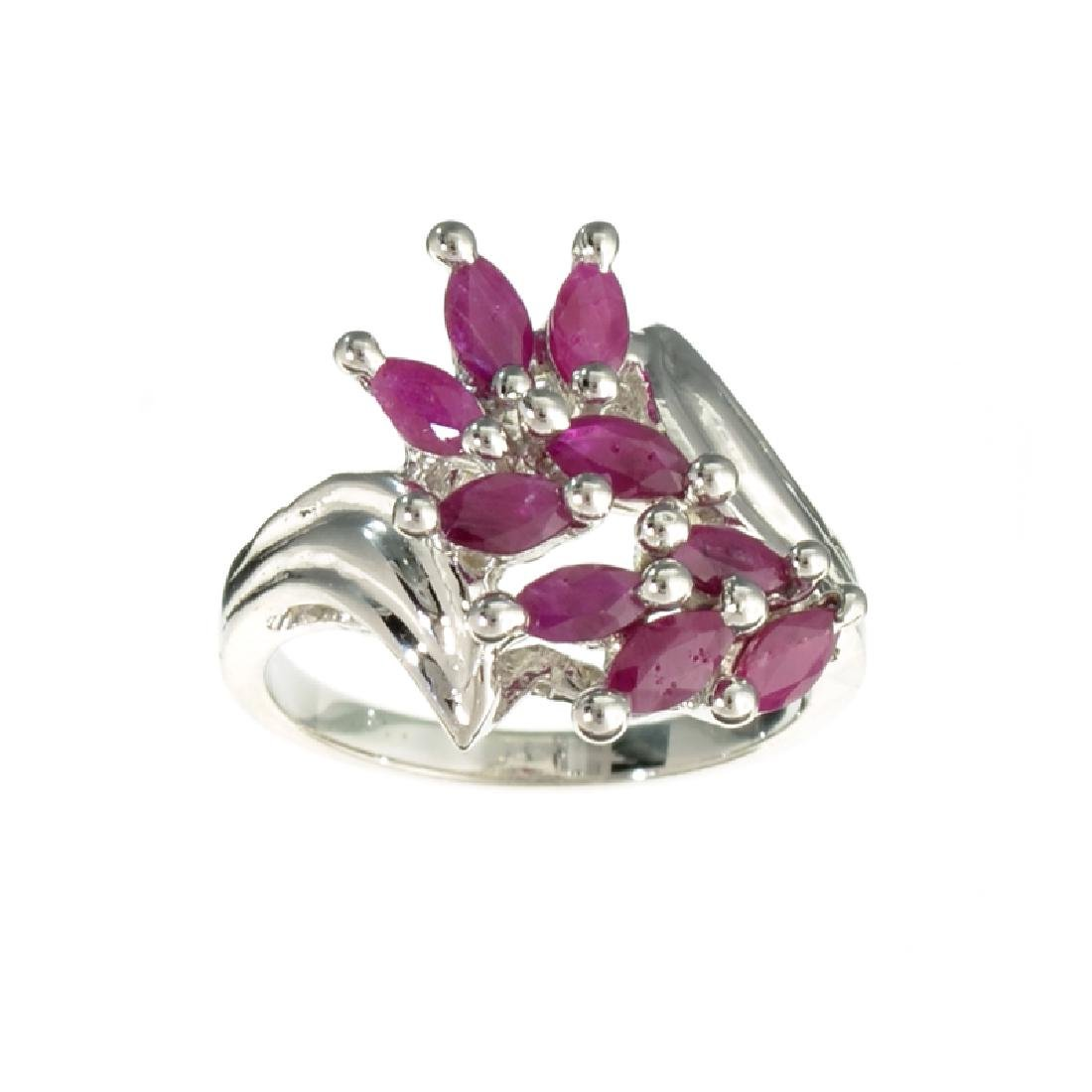 APP: 1.6k 1.75CT Marquise Cut Ruby And Platinum Over