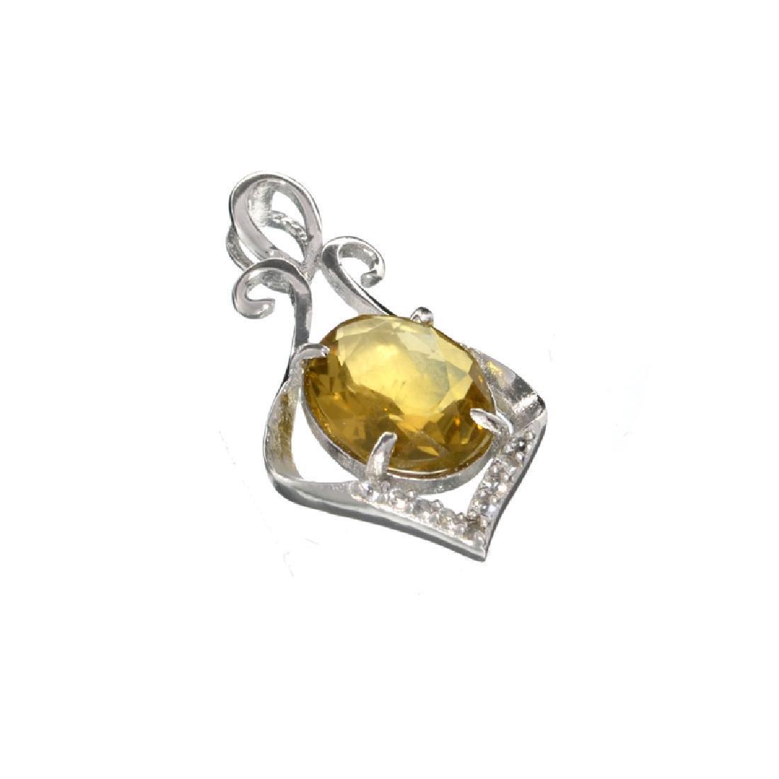 APP: 0.4k Fine Jewelry 2.00CT Oval Cut Citrine/White
