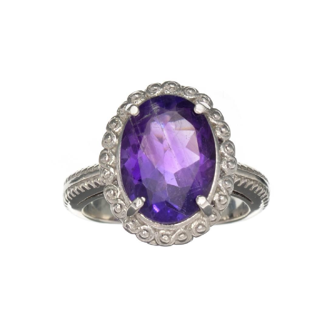 APP: 0.6k Fine Jewelry 5.47CT Oval Cut Purple Amethyst