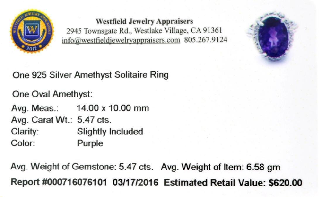 APP: 0.6k Fine Jewelry 5.47CT Oval Cut Purple Amethyst - 2
