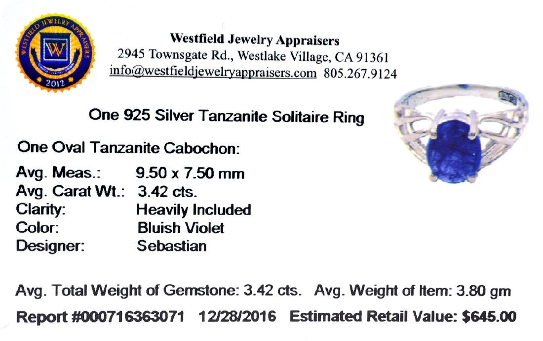 Fine Jewelry Designer Sebastian 3.42CT Oval Cut - 2