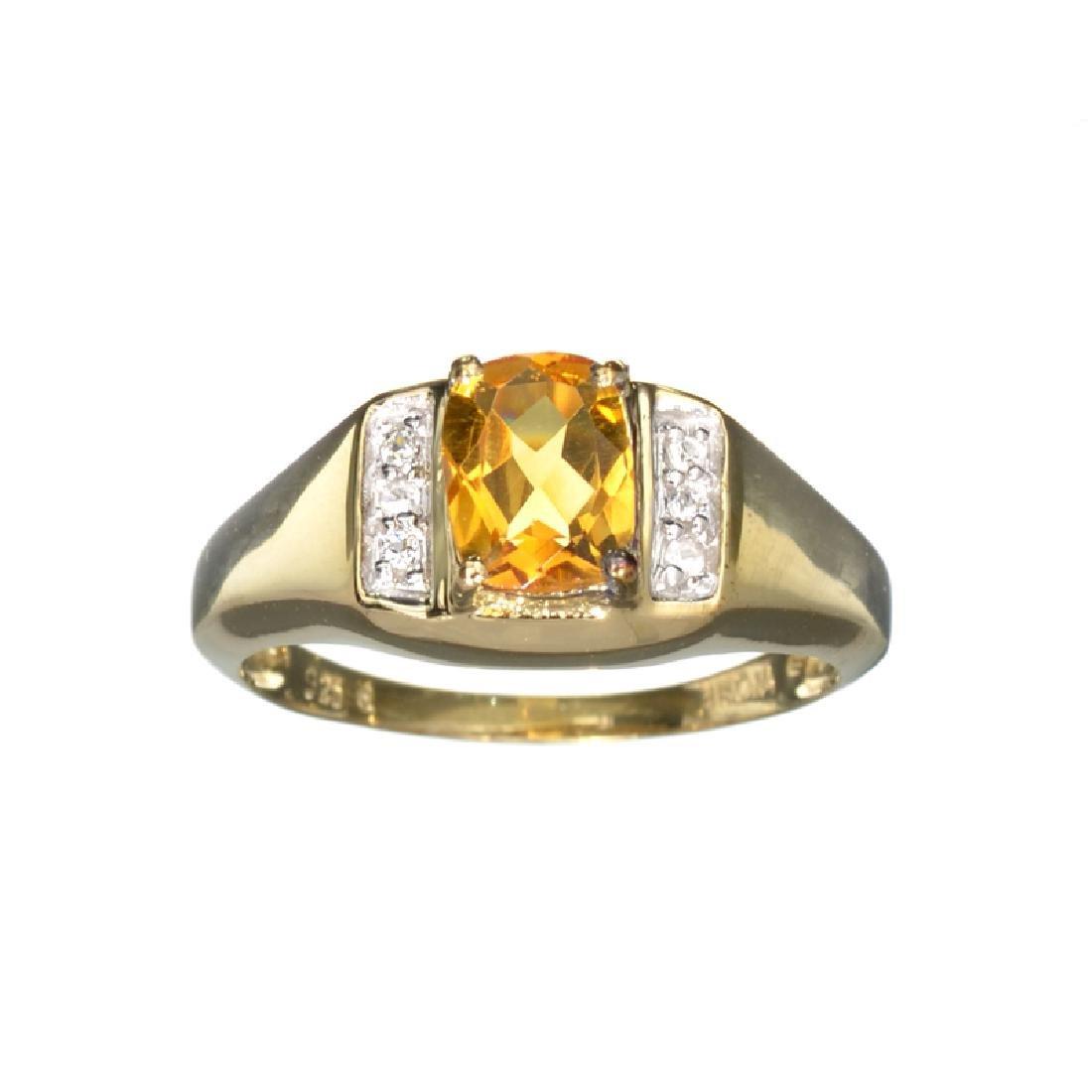 APP: 0.4k Fine Jewelry 1.38CT Citrine And White