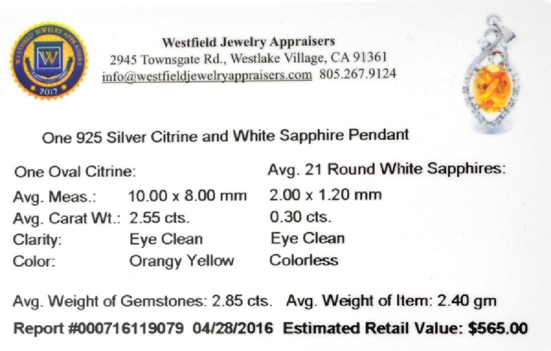 APP: 0.6k Fine Jewelry 2.85CT Citrine And White - 2