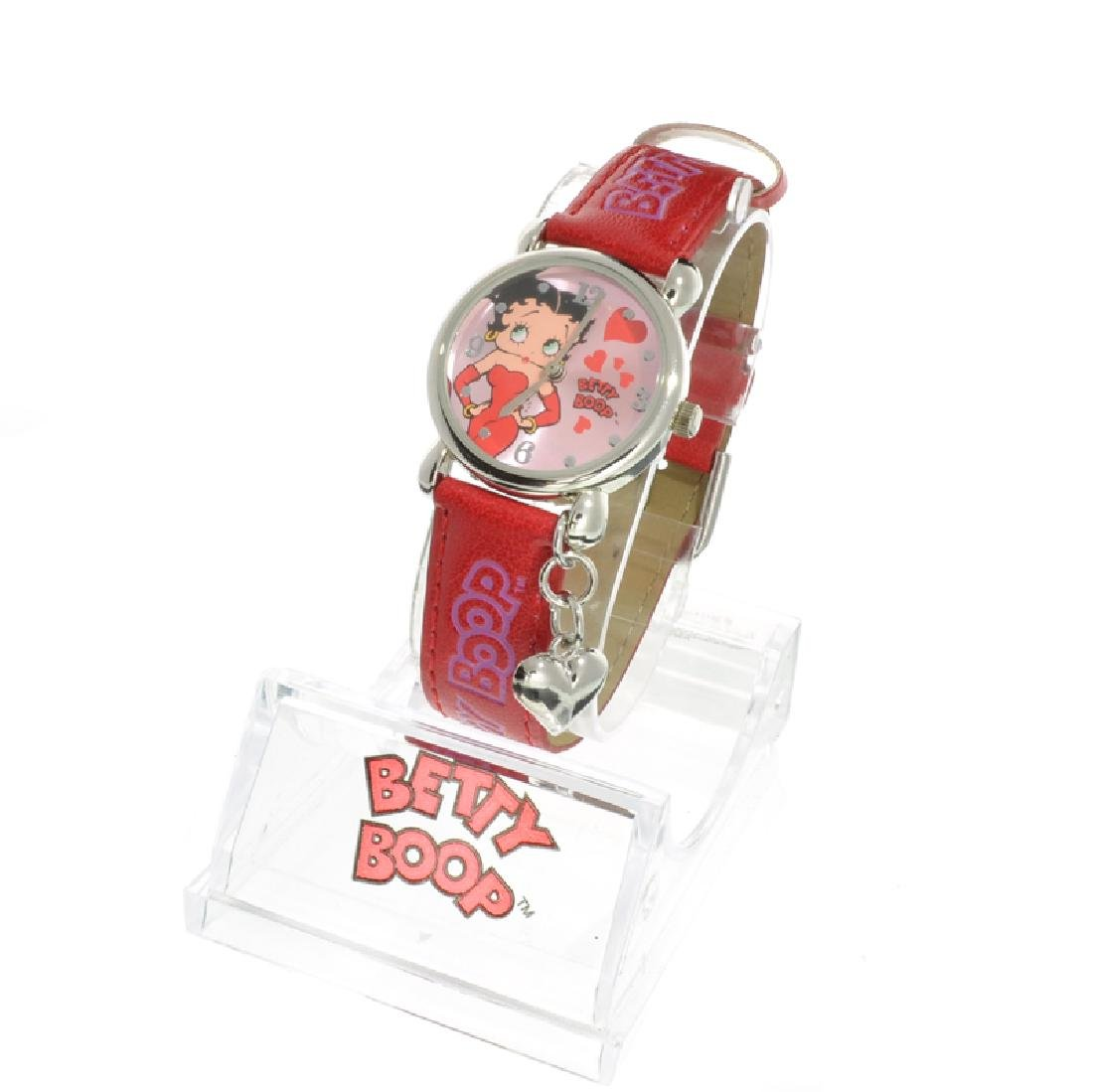 New Betty Boop, Women's Leather Watch with ''Silver