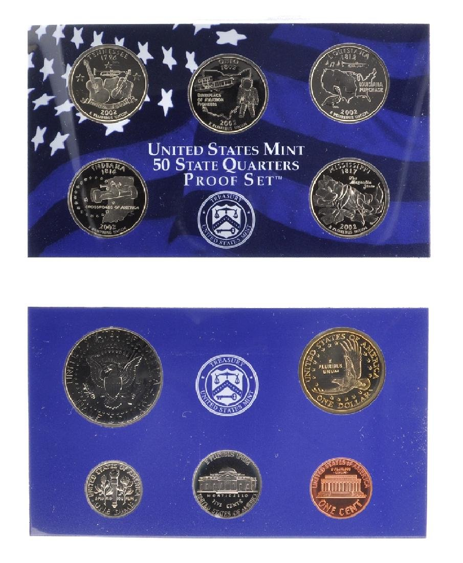 2002 United States Mint Proof Coin Set - 2