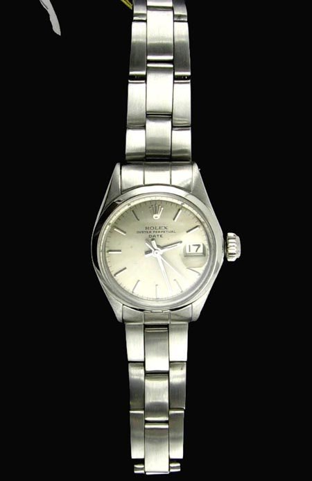1212: Antique Rolex -  Ladies Stainless Steel