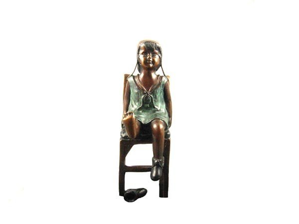 1234: Investment Quality Bronze: Sitting Girl on Chair