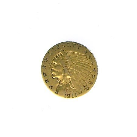 1210: GOV: 1911 $2.5 US Indian Head Gold Coin, COLLECTA